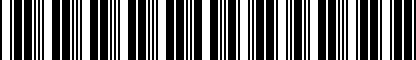 Barcode for 000061107