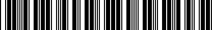 Barcode for NPN075009